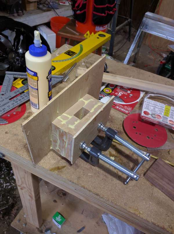 Gluing up the mallet head