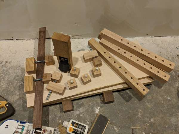 Pieces for the DIY bar clamps