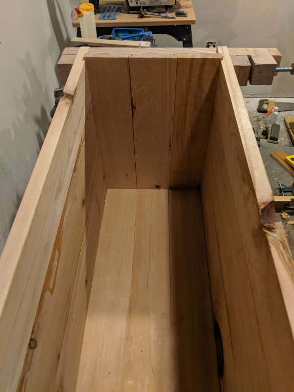 One entire side of the toolbox dry-fit together.