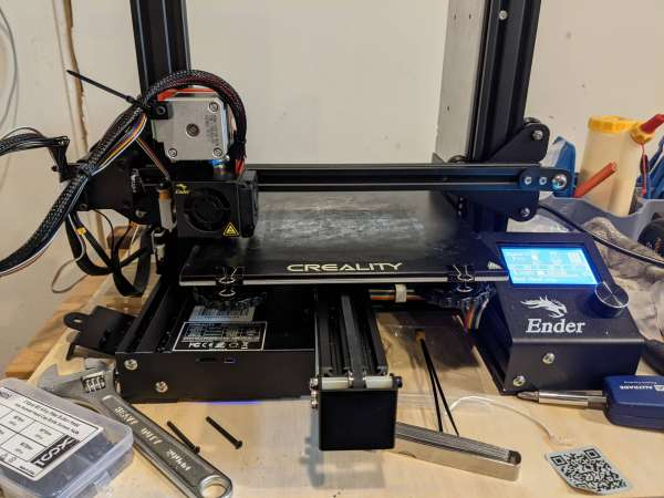 The completely reassembled printer